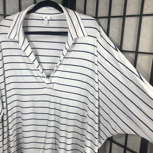 • Time and Tru Polo Popover Navy Stripe Plus XXL